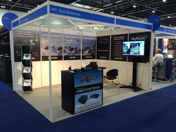 Blue Sky Network Booth at Helitech 2015