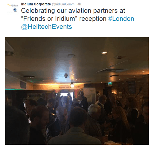 Iridium Partners in Helitech 2015 London
