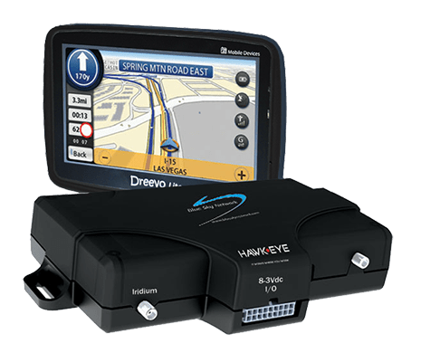 HawkEye 5300 GPS tracking device with HawkEye Touch Display