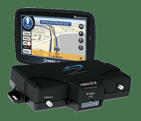 HawkEye 5300 GPS tracking device with HawkEye Touch Display