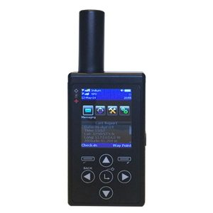 a small black device with a screen and four arrow buttons