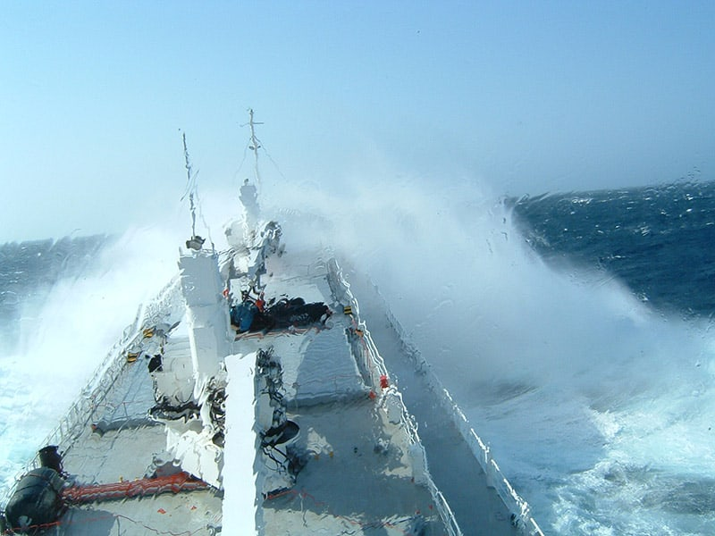 Ship in Bad Weather