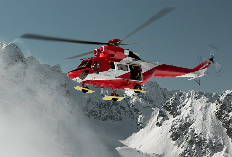 Helicopter Equipped with Tracking Device