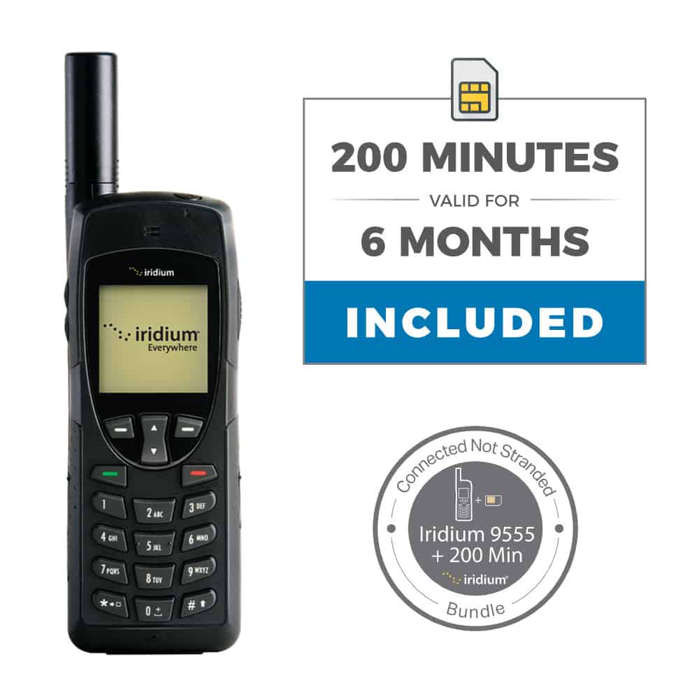 Iridium 9555 Satellite Phone Connected Not Stranded Bundle