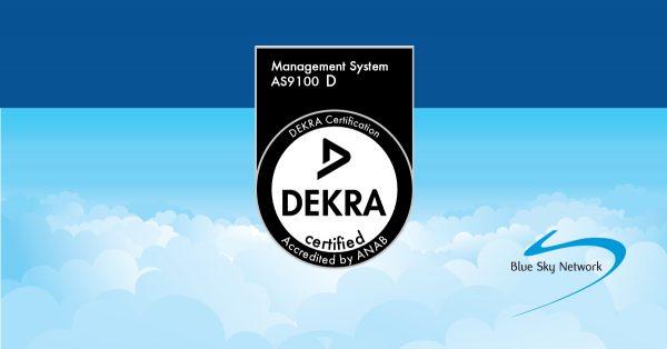 DEKRA AS9100 Certification Logo