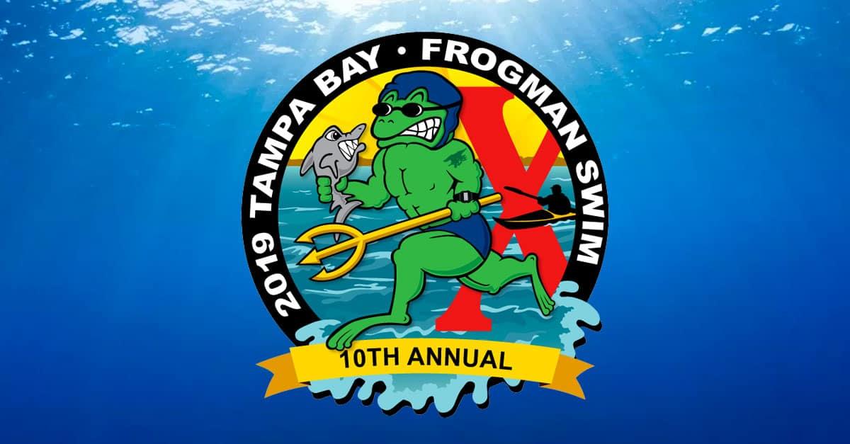 2019 Tampa Bay Frogman Swim Logo