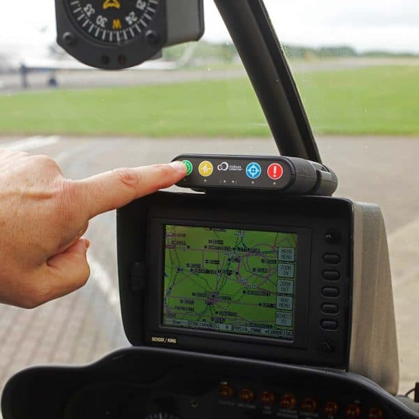 RockAIR being used in helicopter cockpit