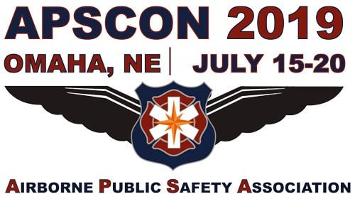 Airborne Public Safety Association (APSCON) Logo