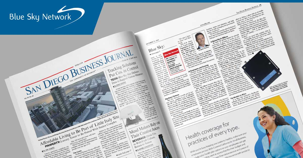 San Diego Business Journal Article Featuring Blue Sky Network